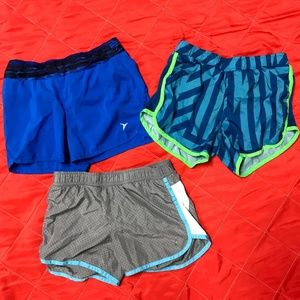 3 pairs of girls athletic shorts
